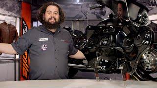 Hoppe Mediazilla Detachable Audio Fairing for Harley Review at RevZilla.com