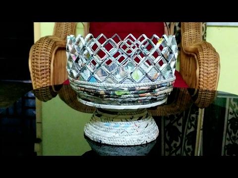 How to make a newspaper fruit basket