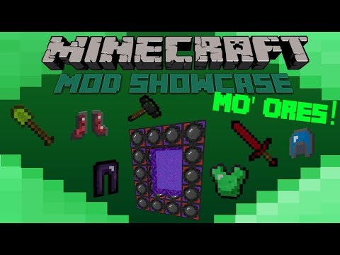 Minecraft Mod Showcase- MO' ORES!! OP ARMOUR, NEW DIMENSION!