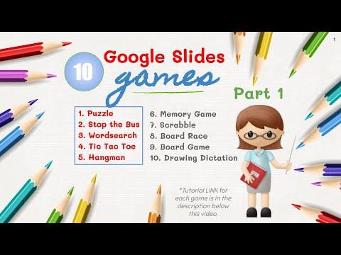 10 Interactive Online Games in Google Slides - part 1