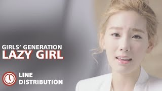 SNSD - Lazy Girl [Line Distribution] (Color Coded) 소녀시대 - Lazy Girl (Dolce Far Niente)