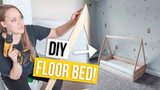 DIY MONTESSORI FLOOR BED!