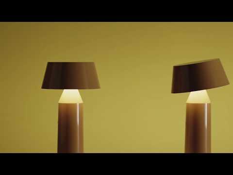 Настольная лампа Bicoca желтая