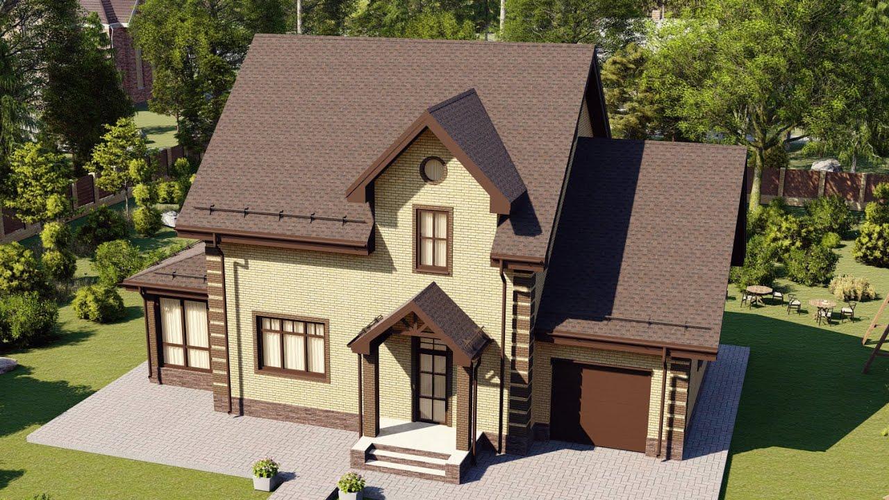Двухэтажный дом с удобной планировкой и гаражом