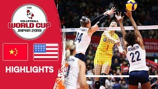 CHINA vs. USA - Highlights | Women's Volleyball World Cup 2019