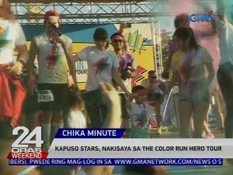 [GMA]  Kapuso stars, nakisaya sa The Color Run Hero Tour