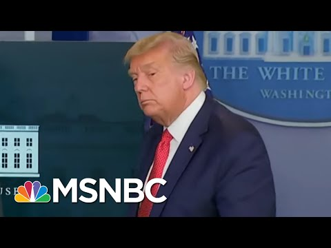 Watch The Moment President Trump Abruptly Ends Briefing And Leaves Briefing Room | MTP Daily | MSNBC