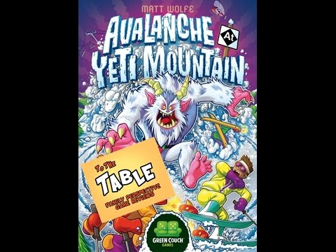 To The Table - Avalanche at Yeti Mountain Kickstarter Preview