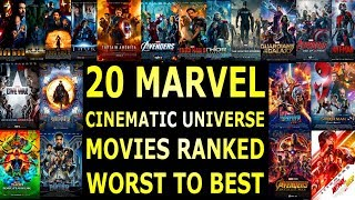 All 20 MCU Movies Ranked Worst To Best