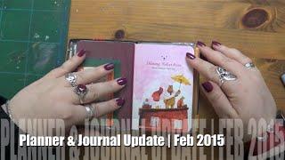 Planner & Journal Update Feb 2015 | Filofax Personal & Midori Travelers Notebook