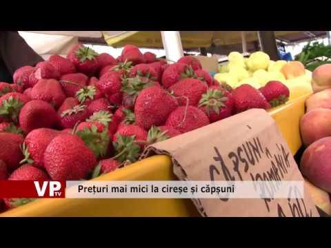 Prețuri mai mici la cireșe și căpșuni