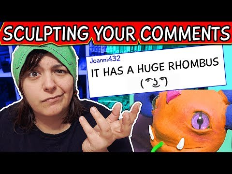 I TURN MY SUBSCRIBERS COMMENTS INTO A SCULPTURE #1 Monster Clay craft DIY Challenge (видео)