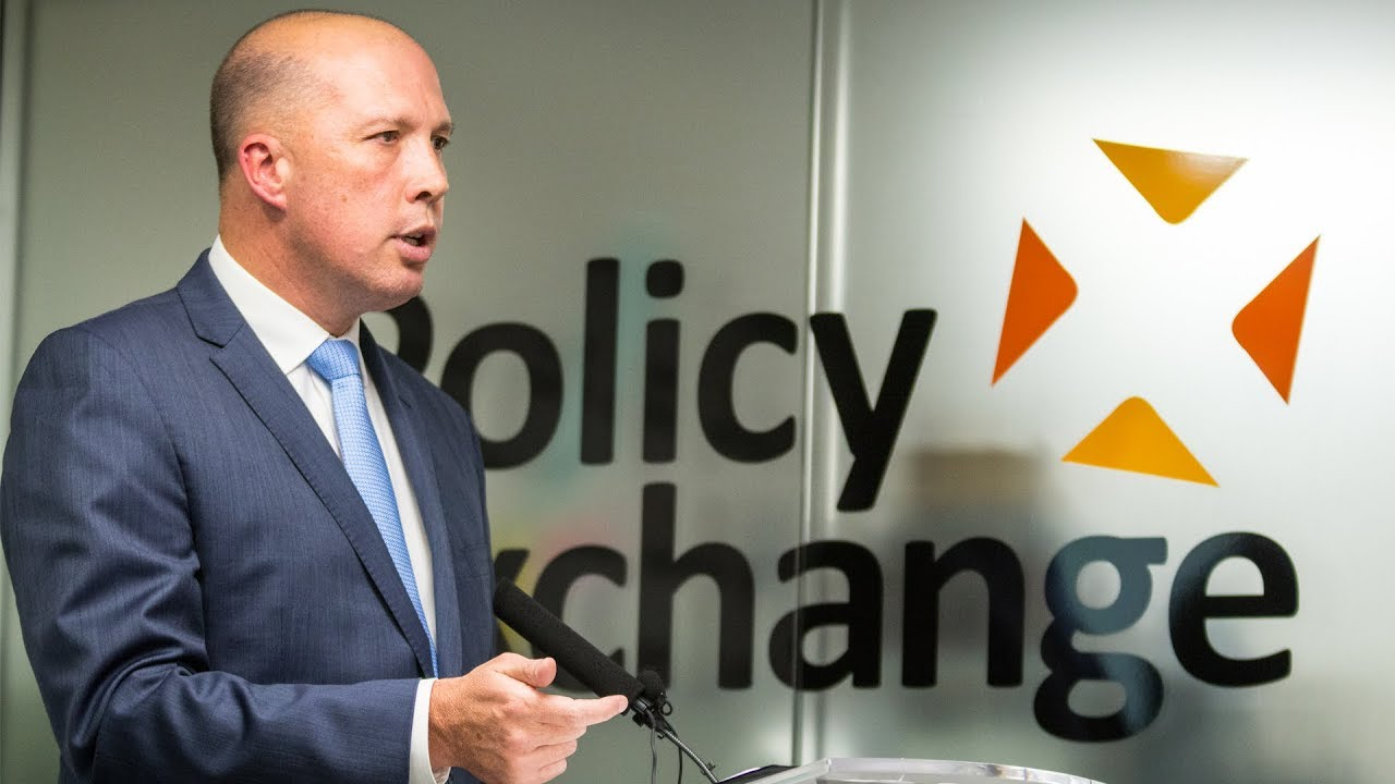 Hon Peter Dutton MP, Australian Minister for Immigration and Border Protection, speaks at Policy Exchange