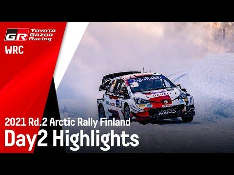 WRC 2021 第2戦のラリーフィンランド ToyotaGazooRacingチームの土曜日ハイライト動画