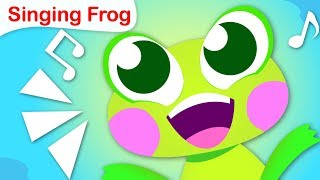 The Singing Frog | Word Play | Nursery Rhymes by  Little Angel