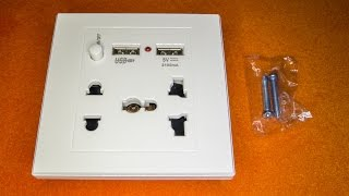 ⚡Посылка с AliExpress: Универсальная розетка с USB-зарядкой