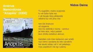 "Video thumbnail of ""Andrius Mamontovas - Nidos Daina"""