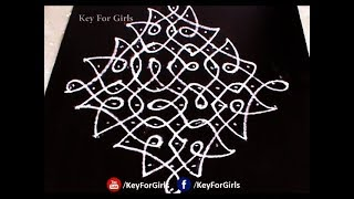 Easy Melikala Muggulu Designs || Easy Rangoli Designs With Dots || Key For Girls