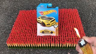 EXPERIMENT: 10 000 MATCHES vs Hot Wheels Toy Car !! Amazing Reaction Experiment