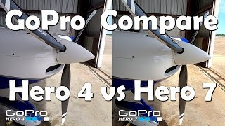 RV Aircraft Video - GoPro - We've come a long way - Hero 4 / Hero 7 Compare