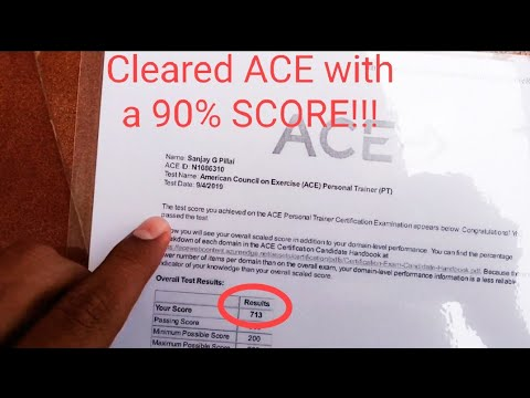 HOW WAS MY ACE - PERSONAL TRAINER EXAM? TOUGH Or ...