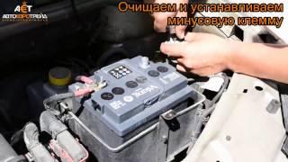 Установка аккумулятора на Fiat Doblo 1 4i + Viking Silver 50Ah R