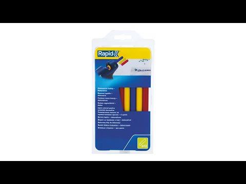 Baton silicon profesional Rapid Universal color (rosu, galben, albastru), Ø12mm x 190mm, baza EVA, 250g/blister 24941400