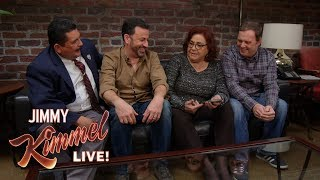 Jimmy Kimmel Plays HQ Trivia with Aunt Chippy, Cousin Sal & Guillermo