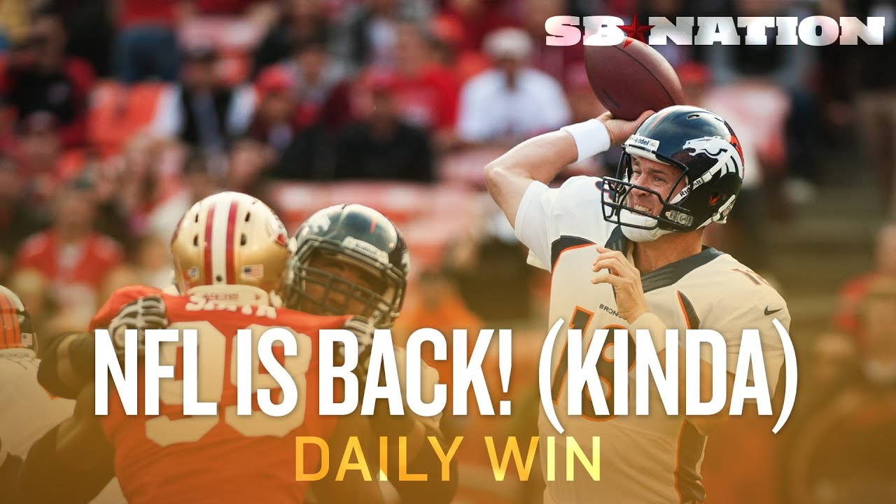 NFL Preseason: Methadone for Football Fans - The Daily Win thumbnail