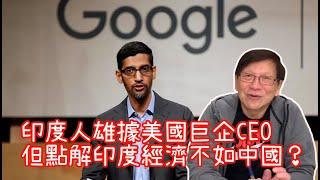 印度人雄據美國巨企CEO 但點解印度經濟不如中國?〈蕭若元:書房閒話〉2020-05-12