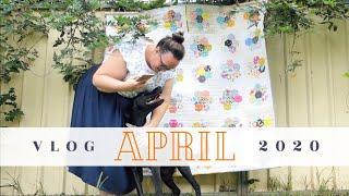 APRIL | Finishing My Hexie Flower Quilt