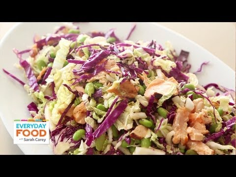 Shredded Cabbage and Salmon Salad | Everyday Food with Sarah Carey
