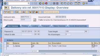 SAP QM Training Video