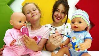 Распаковка Беби Бон мальчик. Видео для девочек с куклами.