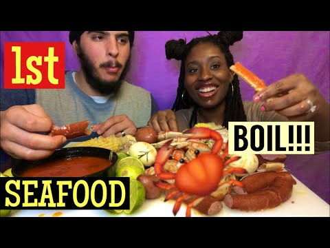 1ST SEAFOOD BOIL MUKBANG DONT WIPE YOUR MOUTH  CHALLANGE: DUNGENESS CRAB, SNOW CRAB & SHRIMP