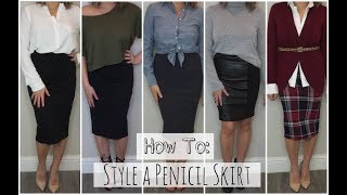 How To: Style A Pencil Skirt