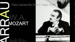 """Piano Sonata No.16 in C major, K.545  """"Facile"""". Claudio Arrau."""
