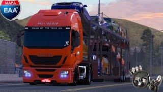 Euro Truck Simulator 2 - Iveco Hi-Way Sada Transportes - Mapa EAA - Logitech G27