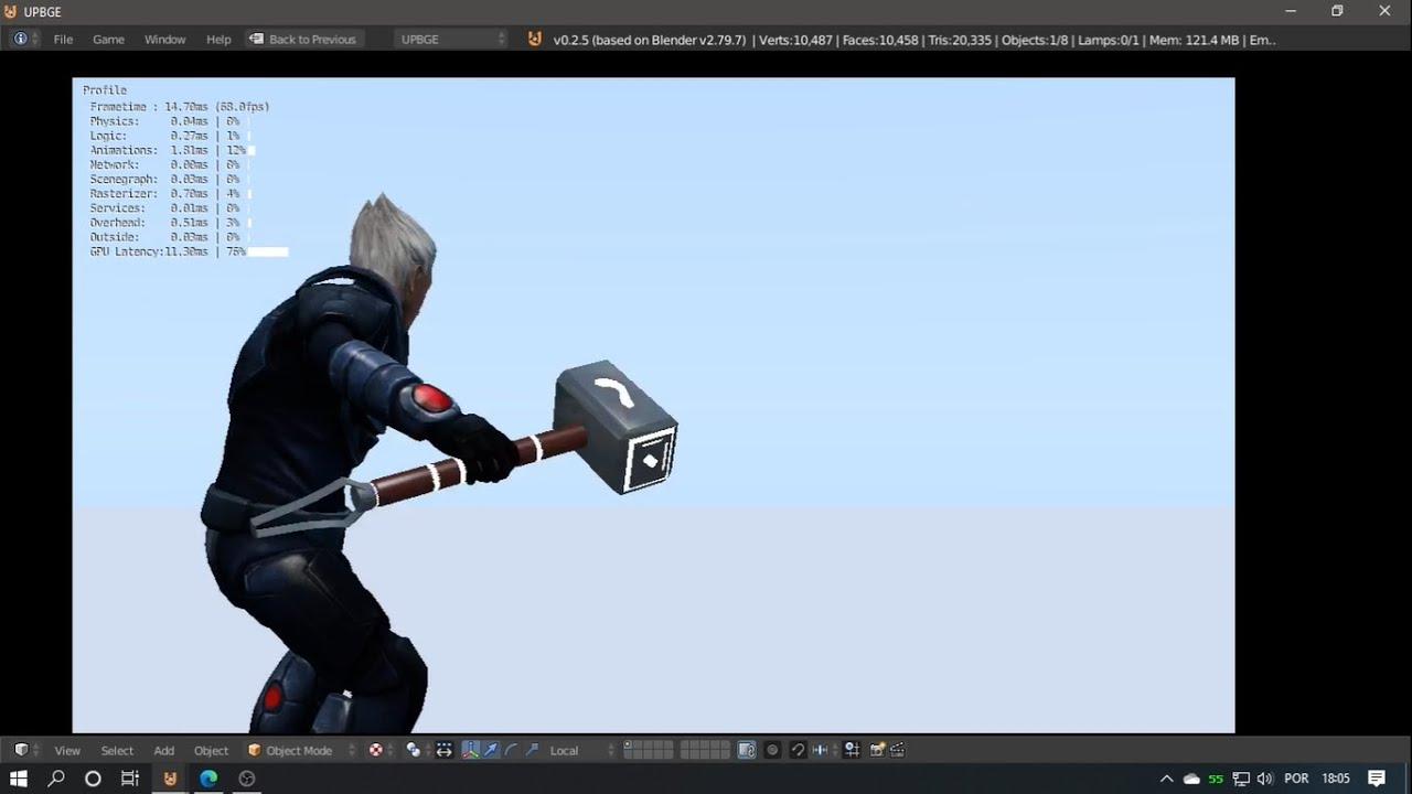 Mjolnir Thor/God Of War - Tutorial UPBGE