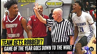 GAME OF THE YEAR TEAM GETS ROBBED!? #1 VASHON GETS TESTED BY FOOTBALL PLAYERS!!
