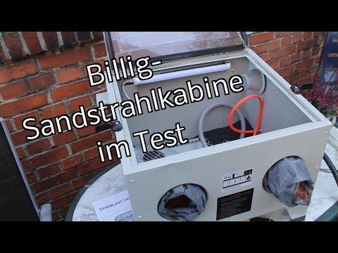 Billig-Sandstrahlkabine (90 l) im Test - selbst sandstrahlen - günstig kaufen anstatt selber bauen