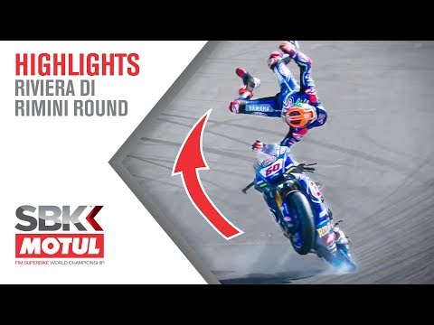 All Angles: Michael van der Mark's Frightening FP2 Crash   Riviera Di Rimini Round 2019   WorldSBK