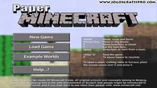 Paper Minecraft 2D - Jogos Gratis Pro