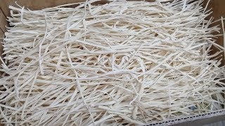 Домашняя рисовая лапша из домашней муки