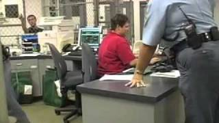 Booking process at the Saline County Jail