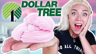 DOLLAR TREE SLIME CHALLENGE! Making Slime With Only $1 Ingredients! | NICOLE SKYES