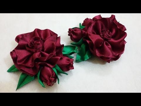 Vintage Wired Satin Flower