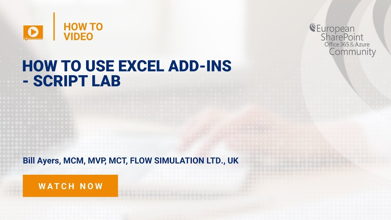 How To use Excel Add-ins - Script Lab