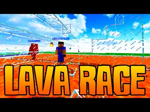 "Minecraft EPIC LAVA RACE #1 ""LAVA JUMPING PRO!"""