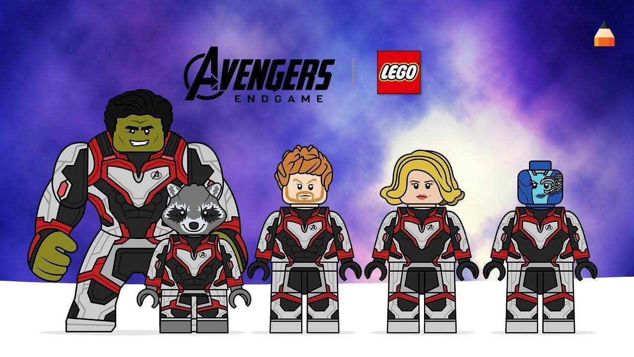 Drawing Lego Avengers Endgame Captain Marvel Thor Nebula Hulk